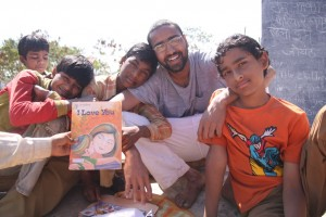 Roshan Nair, August '08 Fellow, with the children of Adharshila Learning Centre