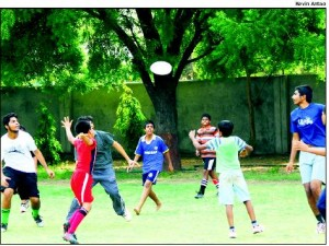 FREE-BEES: Kids playing 'Ultimate' frisbee as part of the summer camp at St Xavier's Loyola